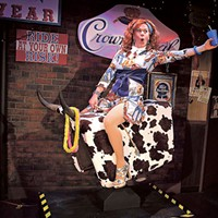 Dixie's Never Wear a Tube Top While Riding a Mechanical Bull runs through July 24 at Booth Playhouse. (Photo by John Moore)