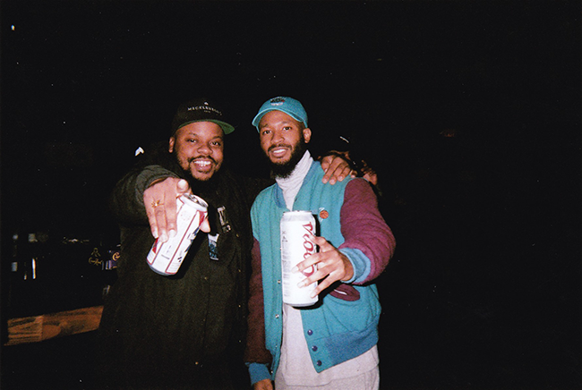 Rapper Elevator Jay (left), who will appear at the festival, hangs with Lute (right), who, sadly, is not on this bill. (Photo by David Butler)