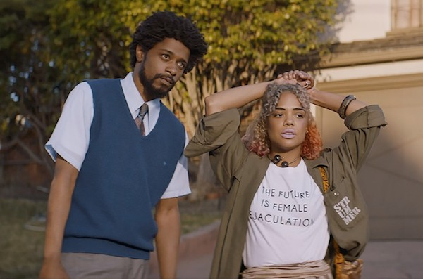 LaKeith Stanfield and Tessa Thompson in Sorry to Bother You (Photo: Annapurna)