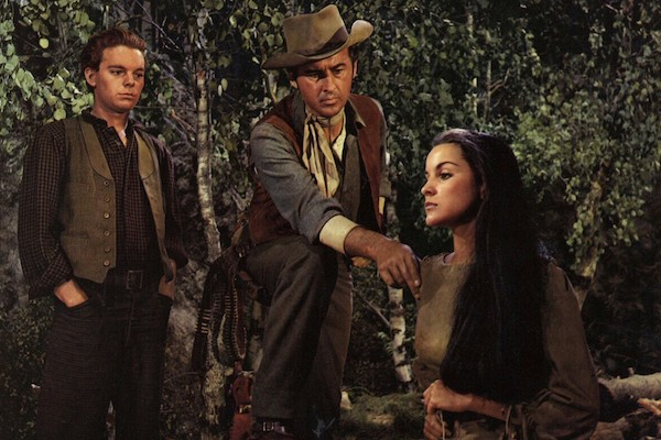 Russ Tamblyn, Stewart Granger and Debra Paget in The Last Hunt (Photo: Warner)
