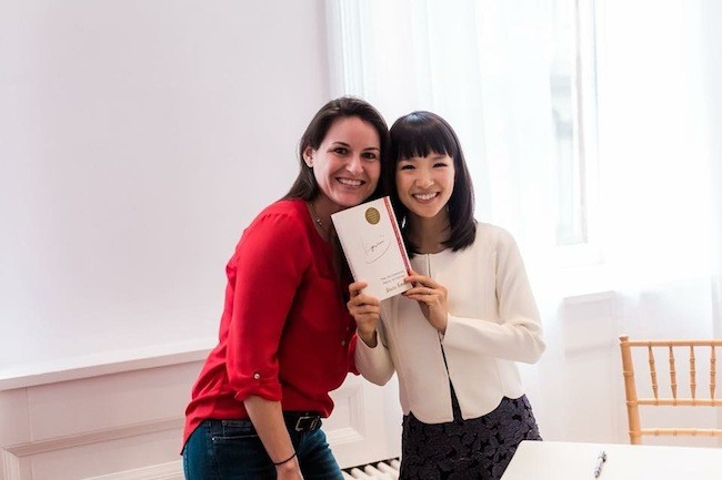 Huneycutt (left) with Marie Kondo