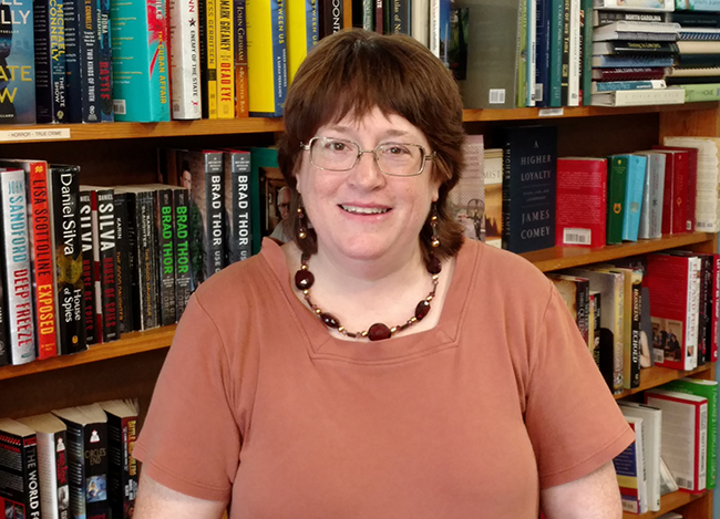 Jeanne Dowd, owner and manager of The Book Rack. (Photo by Ken Dowd)