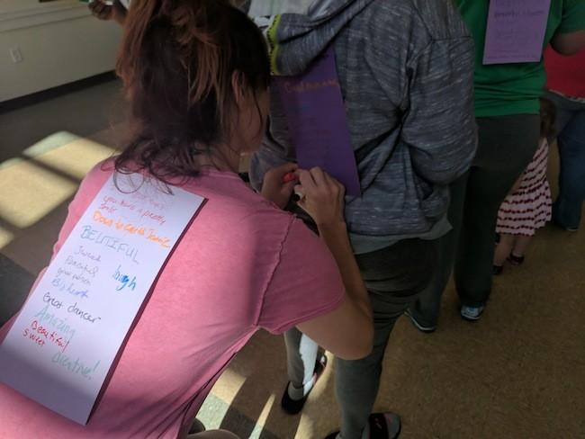 Participants at a recent RCC workshop at A Dove's Nest.