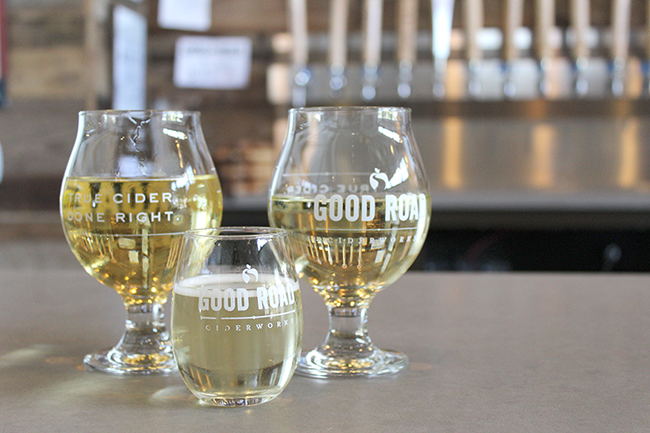 Stayman, Newtown Pippin and Limbertwig ciders from Good Road.