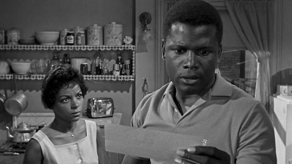 Ruby Dee and Sidney Poitier in A Raisin in the Sun (Photo: Criterion)