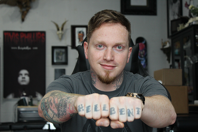 Chris Toler of Seventh Sin Tattoo.