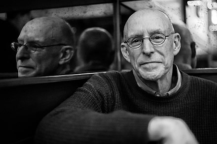 Michael Pollan at a restaurant in Berkley in 2020.