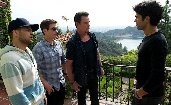 Jerry Ferrara, Kevin Connolly, Kevin Dillon and Adrian Grenier in Entourage (Photo: Warner)