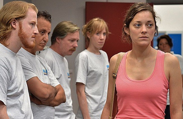Marion Cotillard (right) in Two Days, One Night (Photo: Criterion)