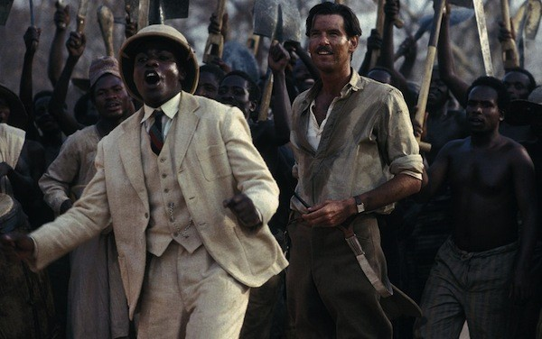 Maynard Eziashi and Pierce Brosnan in Mister Johnson (Photo: Criterion)
