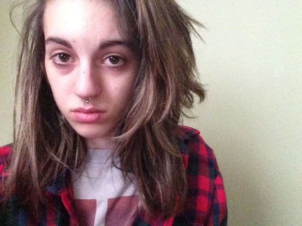 Just days before suffering a dangerous overdose in March, she took this selfie. - COURTESY OF MAEGAN SEVERT