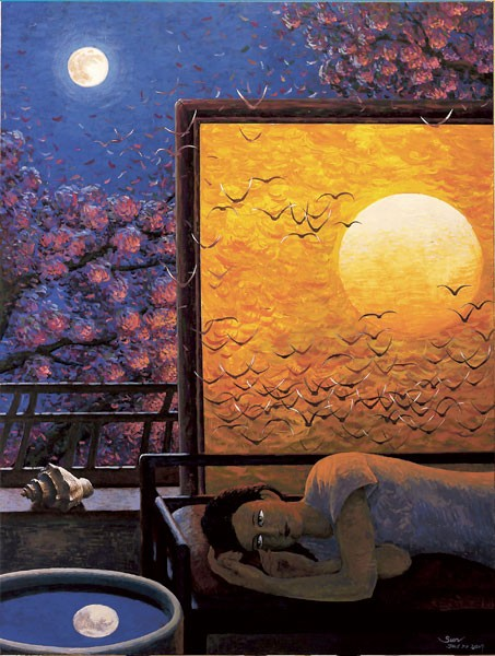 "Liu Sun's ""Falling Dream"""