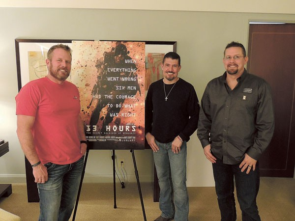 "(From left) Mark ""Oz"" Geist, Kris ""Tanto"" Paronto and John ""Tig"" Tiegen. (Photo by Ryan Pitkin)"