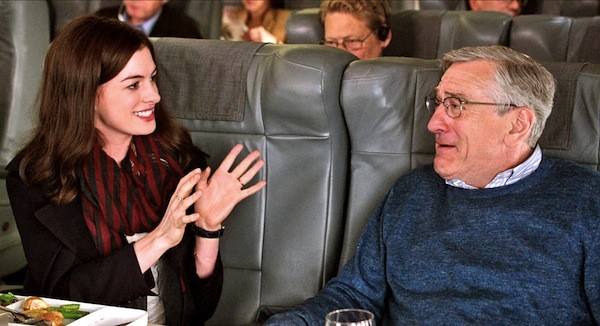 Anne Hathaway and Robert De Niro in The Intern (Photo: Warner Bros.)
