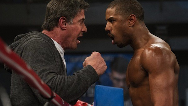 Sylvester Stallone and Michael B. Jordan in Creed (Photo: Warner)
