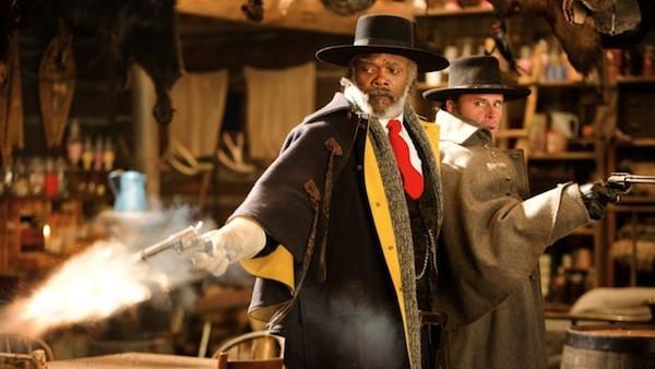 Samuel L. Jackson and Walton Goggins in The Hateful Eight (Photo: Anchor Bay & Weinstein Co.)
