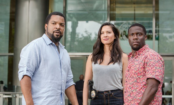 Ice Cube, Olivia Munn and Kevin Hart in Ride Along 2 (Photo: Universal)