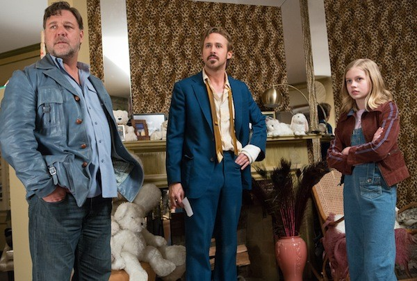 Russell Crowe, Ryan Gosling and Angourie Rice in The Nice Guys (Photo: Warner)