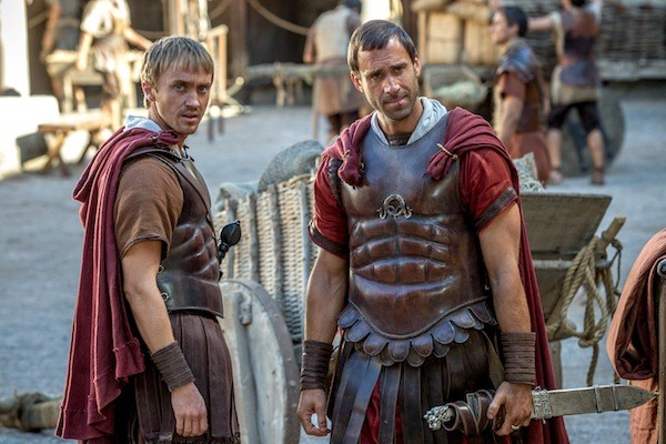 Tom Felton and Joseph Fiennes in Risen (Photo: Columbia)