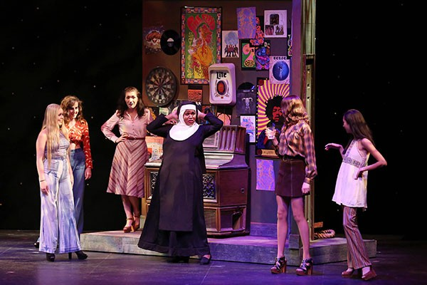 Sister Act runs through July 23 at CPCC's Halton Theater. (Photo by Chris Record)