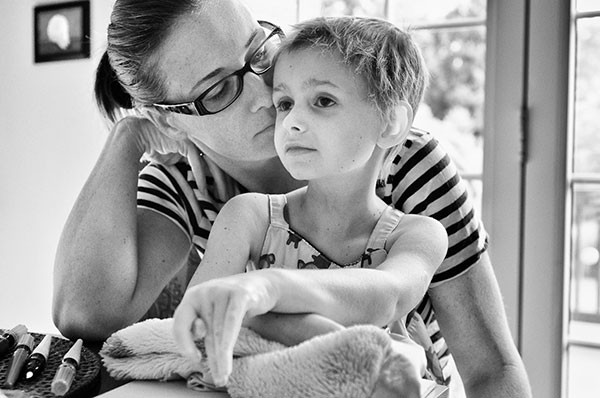 Erin Santos with her daughter, Isabella, just two weeks before Isabella's passing in June 2012.