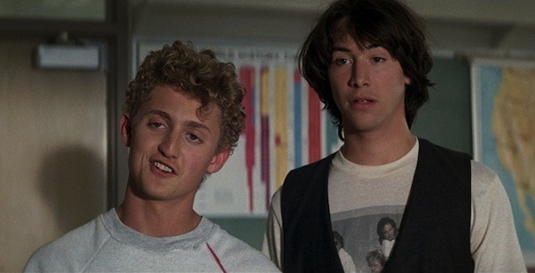 Alex Winter and Keanu Reeves in Bill & Ted's Excellent Adventure (Photo: Shout! Factory & MGM)