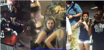Surveillance photos of Jones during protests and inside Jimmy John's last week.
