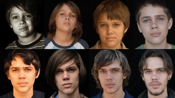 The many faces of Ellar Coltrane throughout Boyhood (Photo: Criterion)