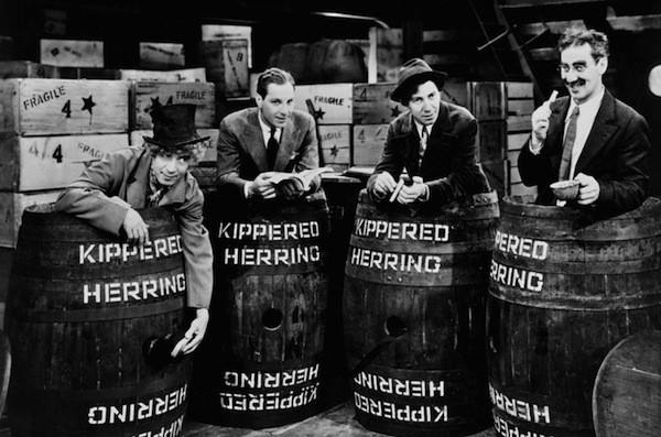 Harpo, Zeppo, Chico and Groucho Marx in Monkey Business (Photo: Universal)