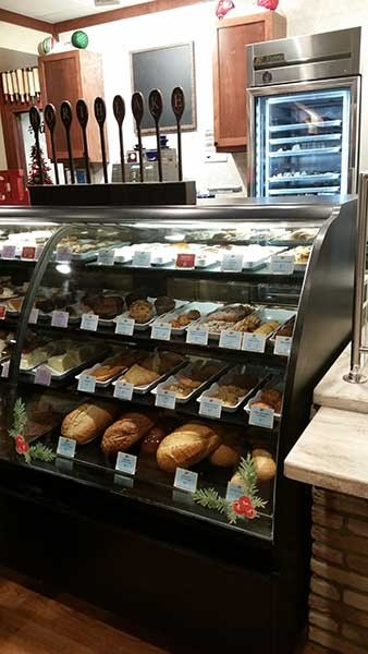 Goodies in the counter at La Madeleine