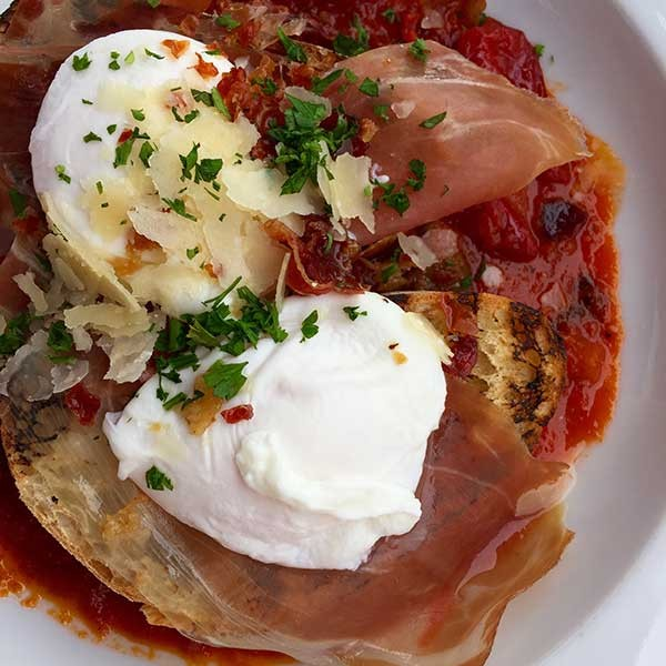 Vivace's Eggs in Purgatory (Photo credit: Chrissie Nelson Rotko)