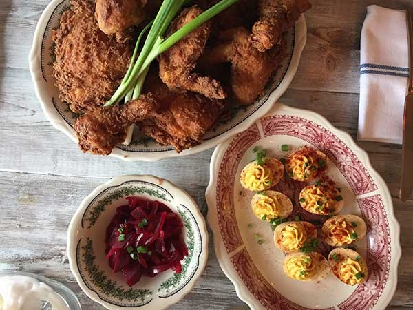 Fried chicken and deviled eggs from Haberdish (Photo courtesy of Haberdish)