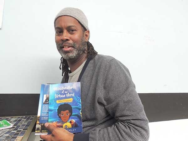 Charles Easley with his newest release, Misadventures of an Urban Nerd: Wild Kingdom.