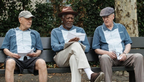 Alan Arkin, Morgan Freeman and Michael Caine in Going in Style (Photo: Warner)