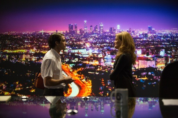 Jake Gyllenhaal and Rene Russo in Nightcrawler (Photo: Open Road Films)