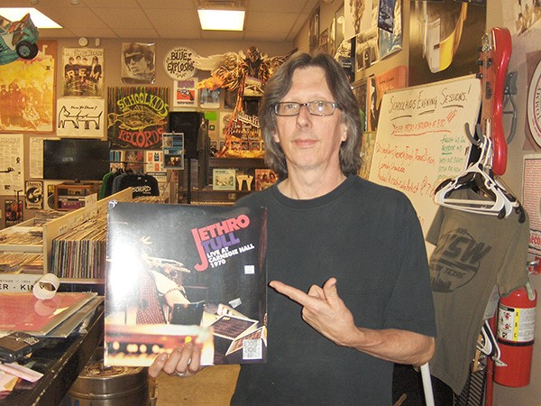 Fred Mills in his element: a record store