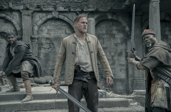 Kingsley Ben-Adir, Charlie Hunnam and Djimon Hounsou in King Arthur: Legend of the Sword (Photo: Warner)