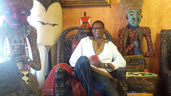 Pape Ndiaye, pictured in his House of Africa store, has been organizing the Juneteenth Festival of the Carolinas for 20 years.