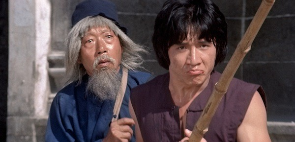 Yuen Siu-tien and Jackie Chan in Snake in the Eagle's Shadow (Photo: Twilight Time)