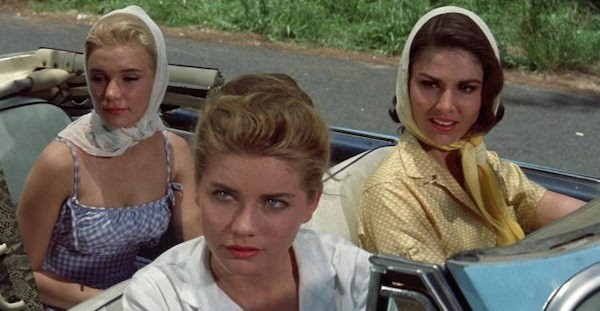 Yvette Mimieux, Dolores Hart and Paula Prentiss in Where the Boys Are (Photo: Warner Bros.)