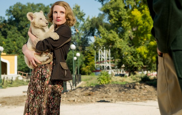 Jessica Chastain in The Zookeeper's Wife (Photo: Universal)