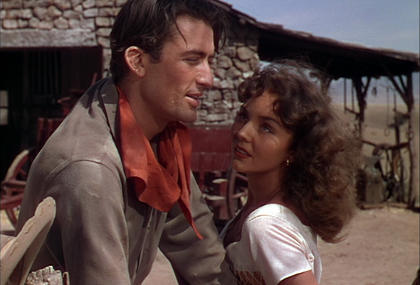 Gregory Peck and Jennifer Jones in Duel in the Sun (Photo Kino)