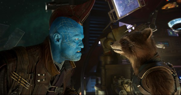 Michael Rooker and Rocket Raccoon in Guardians of the Galaxy Vol. 2 (Photo: Marvel)