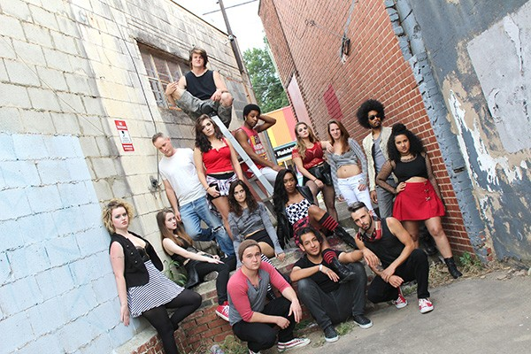 "The cast of Actor's Theatre's ""American Idiot"""