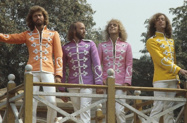 Peter Frampton (second from right) and The Bee Gees in Sgt. Pepper's Lonely Hearts Club Band (Photo: Shout! Factory)