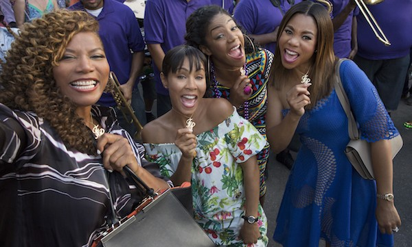 Queen Latifah, Jada Pinkett Smith, Tiffany Haddish and Regina Hall in Girls Trip (Photo: Universal)