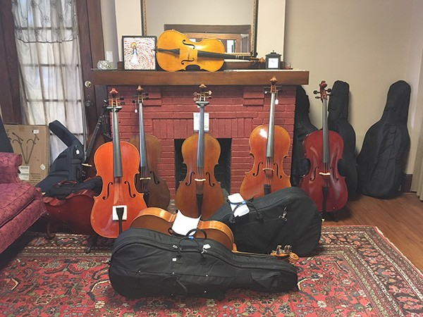 Look at all those strings! The Violin Shoppe is a cozy little store in Elizabeth.