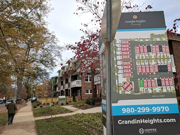 """Grandin Heights is a new Wesley Heights development that Jones says he fully welcomes, as it doesn't cause """"cultural whiplash."""" (Photo by Ryan Pitkin)"""