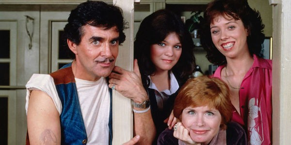 Pat Harrington, Bonnie Franklin (front), Valerie Bertinelli and Mackenzie Phillips in One Day at a Time (Photo: Shout! Factory)