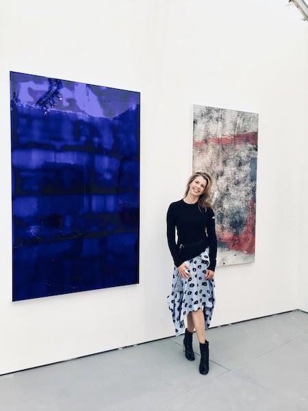 Monica King Friel of Charlotte's SOCO Gallery at Art Basel Miami.
